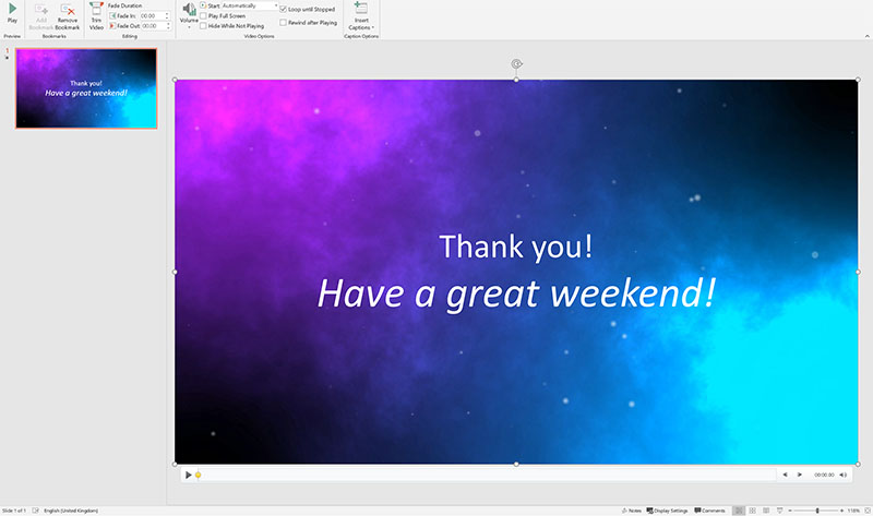 How to add text overlay on videos in Microsoft PowerPoint 1