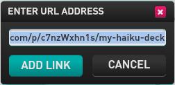 Add url to SlideDog