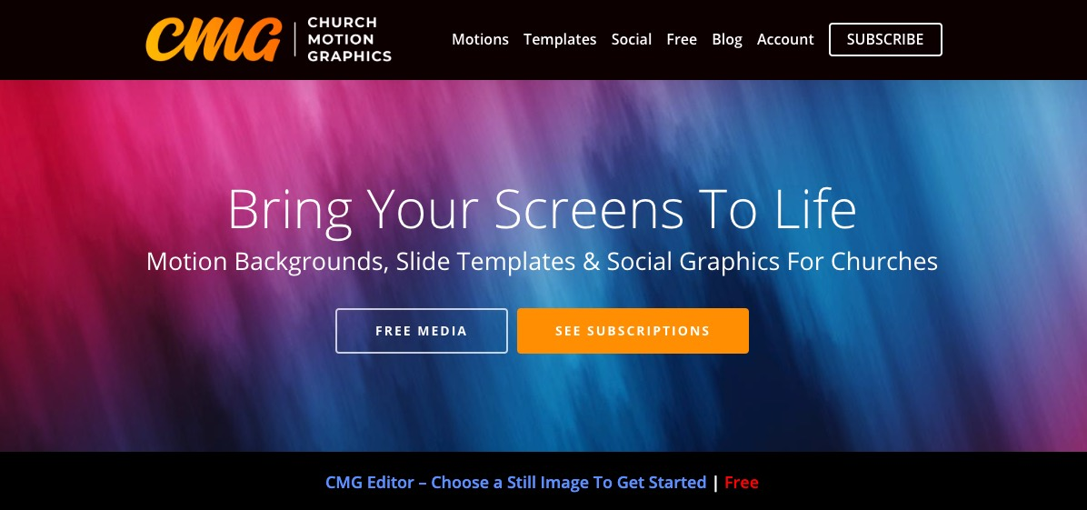 Church Motion Graphics motion backgrounds, slides templates and more