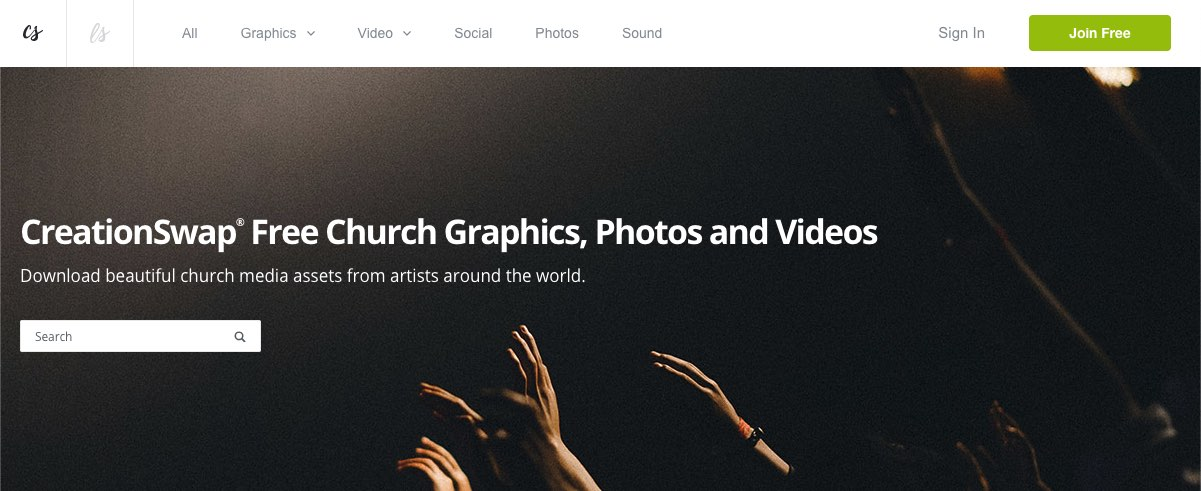 CreationSwap church media assets