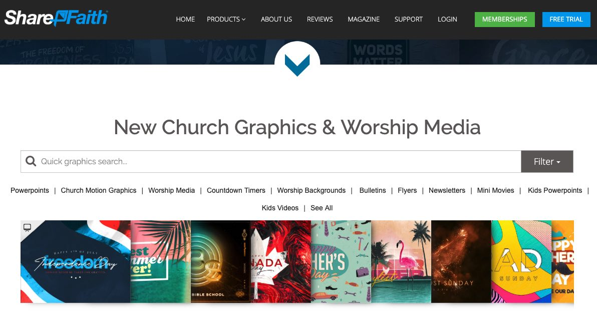 ShareFaith free collection of worship backgrounds and more